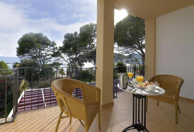 Terrasse Hotel Hesperia Mallorca Villamil Paguera