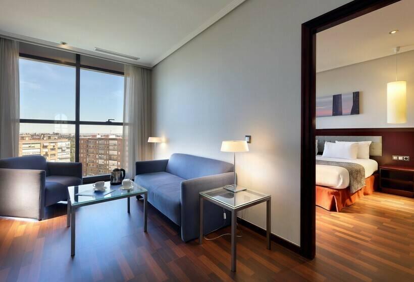 Zimmer Hotel Via Castellana Madrid