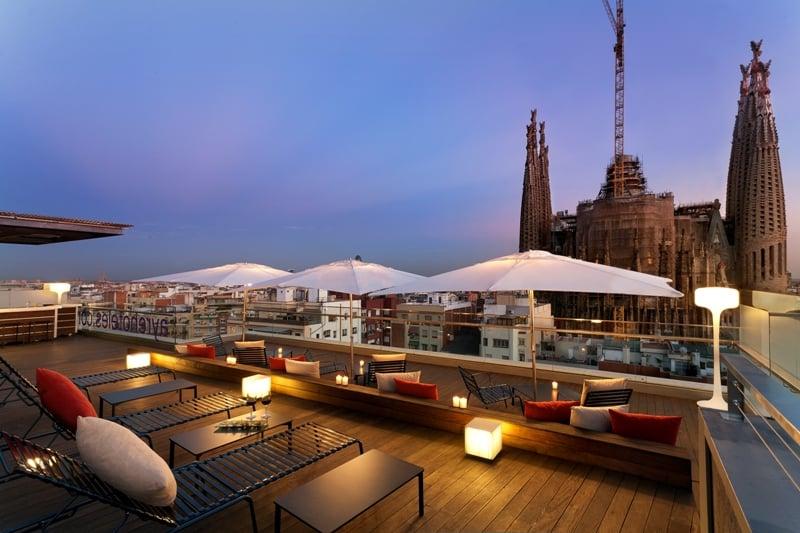تراس فندق Ayre Rosellón برشلونة