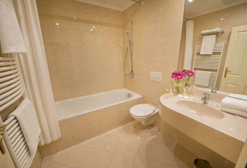 浴室 ホテル Angelis プラハ